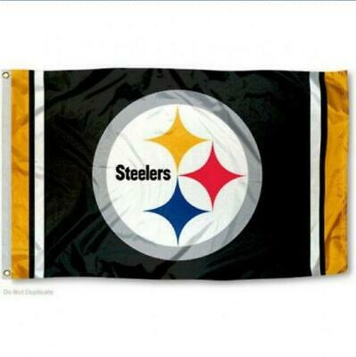 Pittsburgh Steelers Flag 3'X5' Nfl Team Logo Banner: Free Shipping