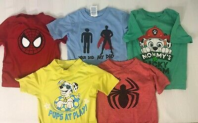 Lot of 5 Boys Shirts Size 12M 18M 24M 2T Short Sleeve Kids Toddler Mixed Shirt