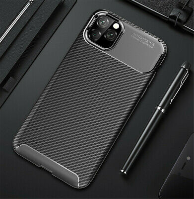 Carbon Fiber Shockproof Soft TPU Back Case Cover For iPhone XS Max XR 8 7 6 Plus