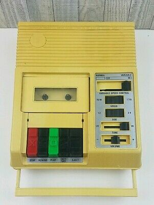 Library Of Congress Cassette Tape Player for the Blind model C-1 Tested Works!