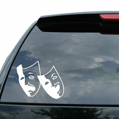 DRAMA MASK THEATER COMEDY TRAGEDY Decal Sticker Car Truck Motor