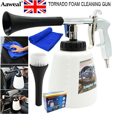 High Pressure Air Pulse Cleaning Gun Tornado Brush For Car Seat Washer Care Tool