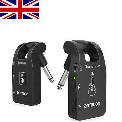 ammoon Wireless Guitar System 2.4G Rechargeable 6 Channels Audio Receiver