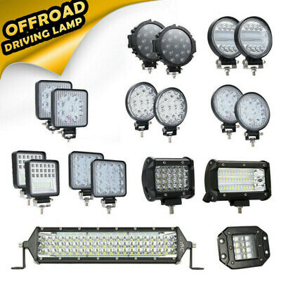 12V 24V CREE LED Work Lights Bar Flood Spot Driving Lamp Offroad Car Truck SUV