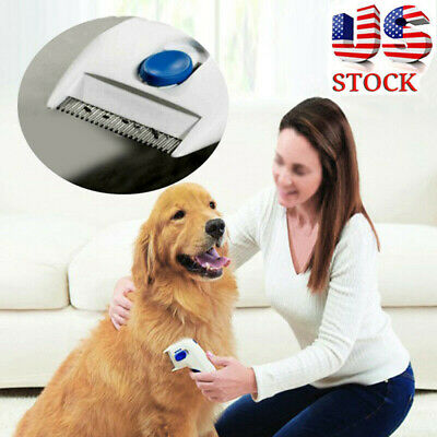 Flea Doctor Electric Dog Comb Brush Cat Pets Head Lice Remover Anti Control BL