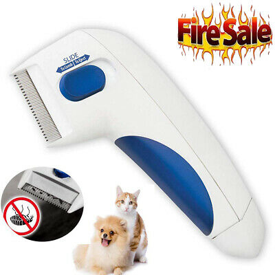 Flea Doctor Electric Dog Comb Brush Cat Pets Head Lice Remover Anti Control MY