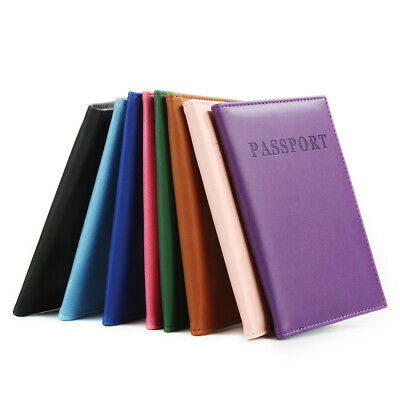 Travel Passport ID Card Cover Holder Case Faux Leather Skin Organizer Apt