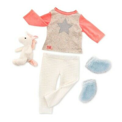 """Our Generation Pajama Clothes Unicorn Accessories Fits 18"""" American Girl Dolls"""