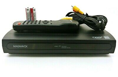 Magnavox SDTV Digital to Analog Signal Converter Box With Remote & AV Cables