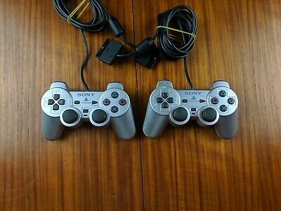PLAYSTATION 2 - PS2 Silver Duelshock 2 Analog Joypad Controller Sony SCPH-10010