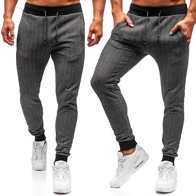 Jogginghose Trainingshose Hose Sporthose Slim Fit Fitness Herren BOLF 6F6 Basic