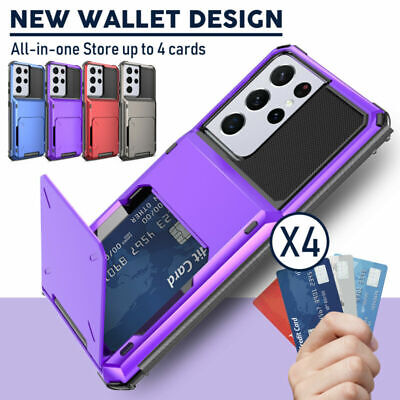 Magnetic Leather Card Slots Wallet Case For Samsung S10+ S10e Note 10+  A20/30