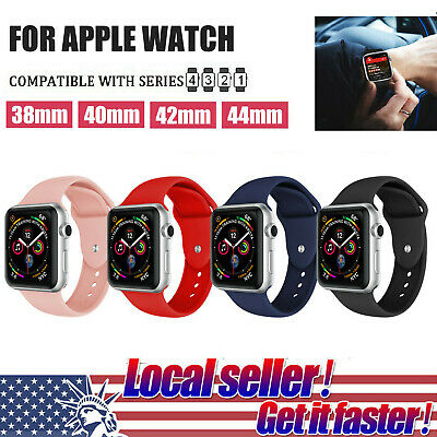 4 Packs Silicone Band Strap For Apple iWatch Sports Series 1/2/3/4 38/42/40/44mm