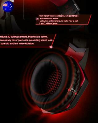 For PC Laptop PS4 Slim Pro Xbox One X S 3.5mm Gaming Headset MIC LED Headphones