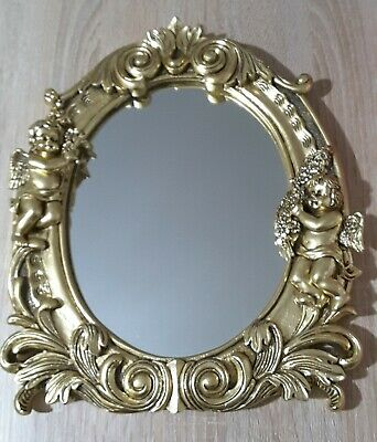 Ornate French Rococo Style gold tone freestanding or Wall Mirror