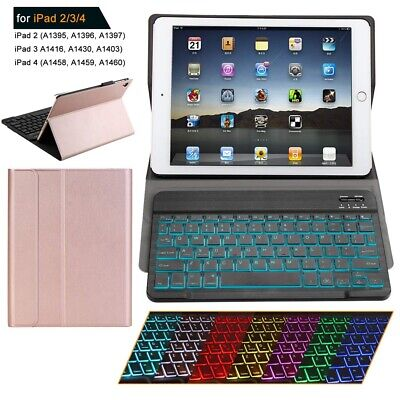 AU For Apple iPad 2 3 4 Detachable Wireless Bluetooth Keyboard With Case Cover