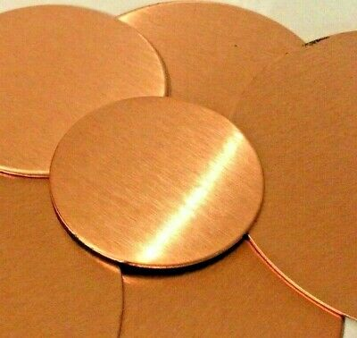 Round SOLID PURE COPPER C101 0.9mm  Jewellery blanks disk