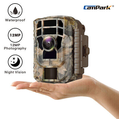"""Campark Trail  Game Camera 12MP 1080P Wild Hunting Cam 2.4"""" IR LEDs Night Vision"""