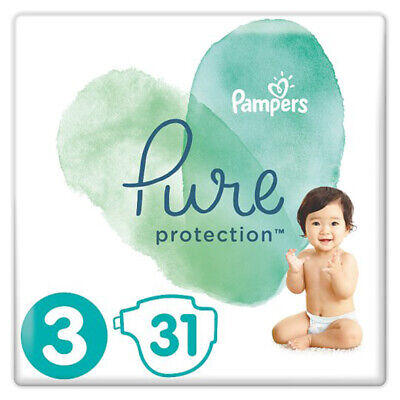 Pampers Pure Protection - Size 3  6kg-10kg. 31 Nappies.