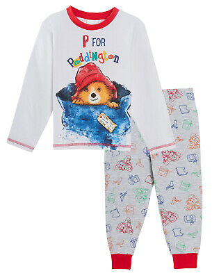 Paddington Bear Pyjamas Kids Full Length Long Sleeve Boys Girls Unisex Pjs Set
