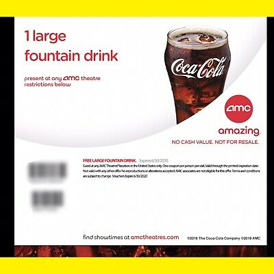 Instant Delivery: 1 Large Popcorn AMC Theaters || EXP. 6/30/2020 E-DELIVERY