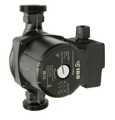 "1 1/2"" IBO OHI PRO 25-60/180 Circulation Pump Central Heating repl. Grundfos Dab"