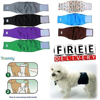 Reusable Wrap Diapers For Male Dogs Padded Soft Closure Puppy Pet Belly Band