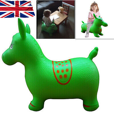 Bouncy Inflatable Horse Kids Animal Hopper Ride On Play Soft Rubber Horse Toy Uk