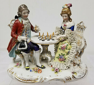 Antique Dresden German Capodimonte Style Porcelain Figurine Group