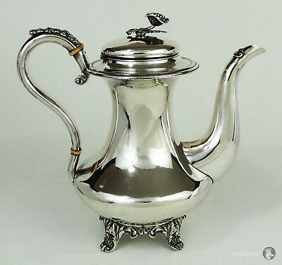 Beautiful LARGE William IV OLD SHEFFIELD PLATE COFFEE POT c1830 Rose Finial
