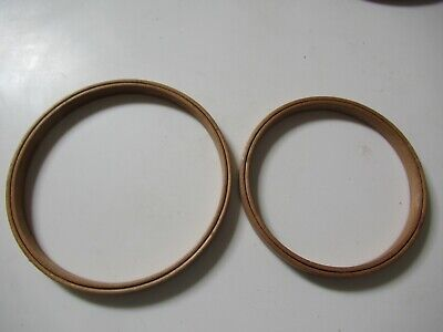 "Set of 2 Vintage Duchess Wood Embroidery Hoops 5"" and 6"""