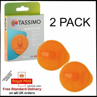 2 Pack Bosch Tassimo Orange Service T-Disc For Coffee Machines 576837 17001491