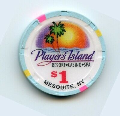 1.00 Chip from the Players Island Casino in Mesquite Nevada