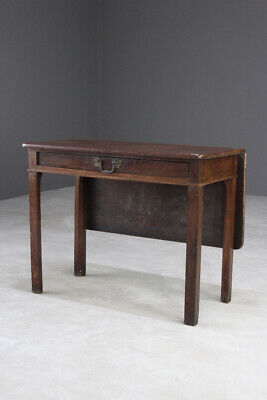 Antique Mahogany Gate Leg Side Occasional Table