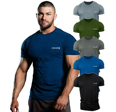 Men's Gym T Shirt Bodybuilding Top Workout Clothing Training VEST MMA Native Fit