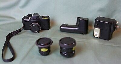 Pentax Auto 110 Slr ( Smallest Ever Made) 1980 With 3X Lens, Autowinder & Flash
