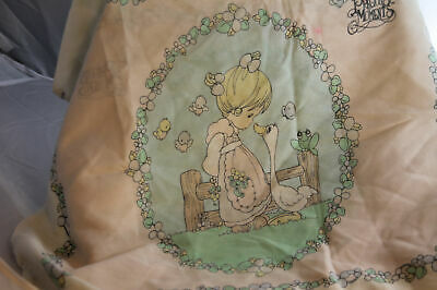 Precious Moments Pillow Case Standard Girl and Goose Farm Country With Ruffle