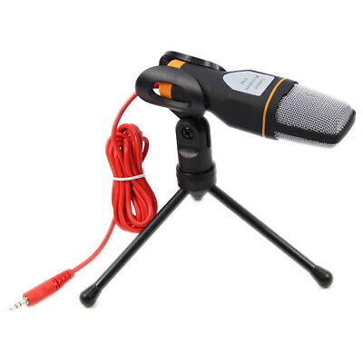 Professional 3.5mm Condenser Microphone PC Phone Reing Mic with Stand Tripod