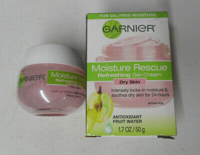 1.7oz GARNIER MOISTURE RESCUE REFRESHING GEL-CREAM DRY SKIN unsealed nib