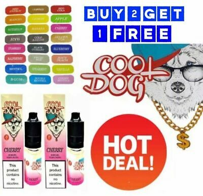 10ml COOL DOG E Liquid Vape Juice Oil Shisha Refill TPD Cig Cheapest Price B2 UK