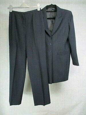Marks and Spencer Navy Trouser Suit Jacket UK 12 and Trousers UK 10 Petite Fit