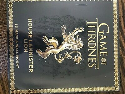 NEW Game of Thrones Mask: House Lannister Lion [3D Mask & Wall Mount]