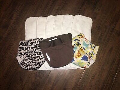 One Size Cloth Diaper Lot Pocket Lotus Bumz Large gDiaper Microfiber Inserts New