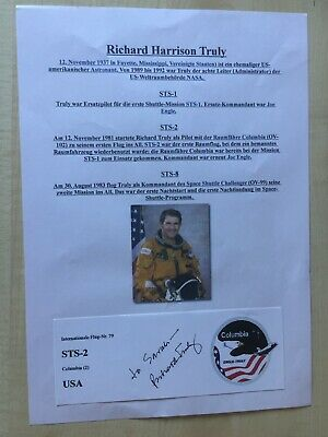 Autograph RICHARD H. TRULY-NASA astronaut-Fighter Pilot-original handsigned