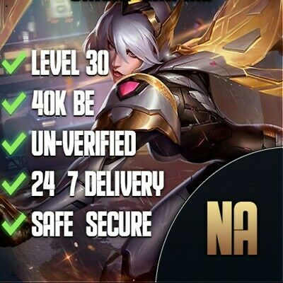 NA League of Legends Smurf Account NA 35-45k+ BE Unverified&Unranked Level 30