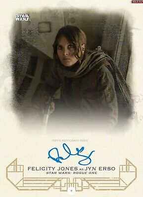 Topps Star Wars Card Trader Galactic Heritage Signature JYN ERSO/FELICITY 100cc
