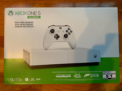 Microsoft NJP-00024 Xbox One S 1TB All-Digital Edition Console - White