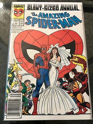 Marvel Comics AMAZING SPIDER-MAN ANNUAL #21 VF WEDDING OF PETER & MARY JANE 1987
