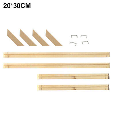 Canvas Frame Kit Multiple Size Decor Stretcher Bars Oil Painting DIY Wood Office