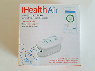 iHealth Air Wireless Fingertip Pulse Oximeter with Plethysmograph and Perfusion